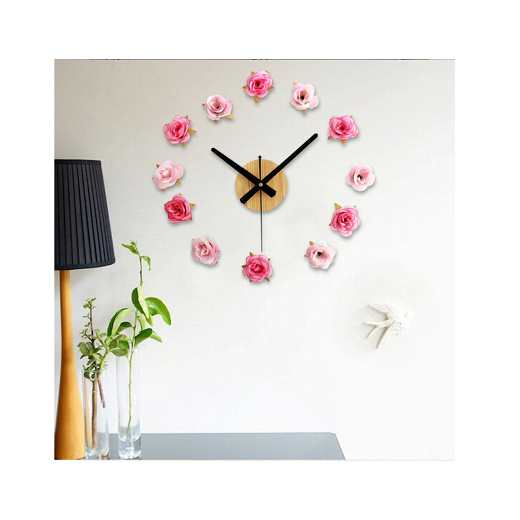 Mediterranean Style DIY Tower Helm Life Buoy Small Fish Clock DIY Clock Wall Clock Silent   red   and   white - Mega Save Wholesale & Retail - 4