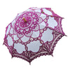 Handmade Cotton Craft Lace Macrame Children Umbrella Wedding Classical Photo   purple - Mega Save Wholesale & Retail