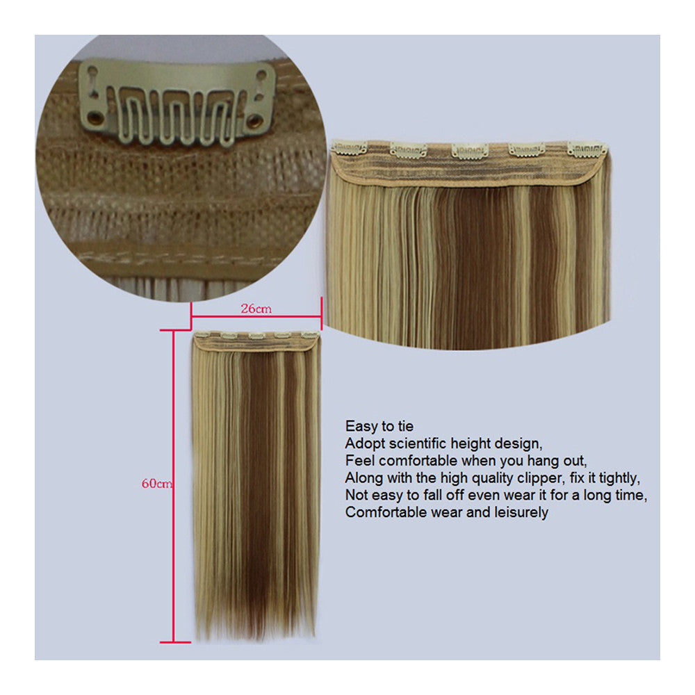 Yiwu's wig factory direct wholesale five piece long straight hair extension card issuing child wig hair piece explosion models in Europe and America   16H613 - Mega Save Wholesale & Retail - 5