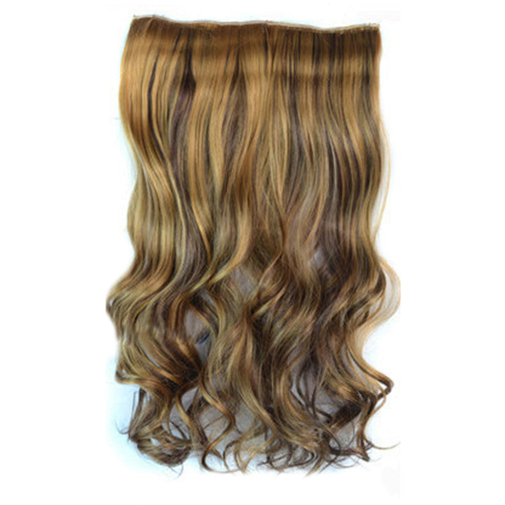 5 Cards Hair Extension Wig Long Curled Hair 5C-27H4#