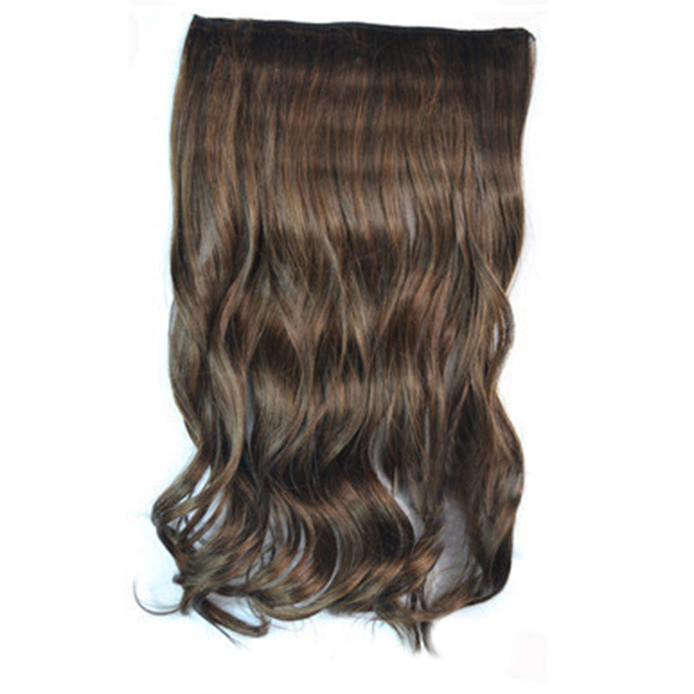 5 Cards Hair Extension Wig Long Curled Hair light brown