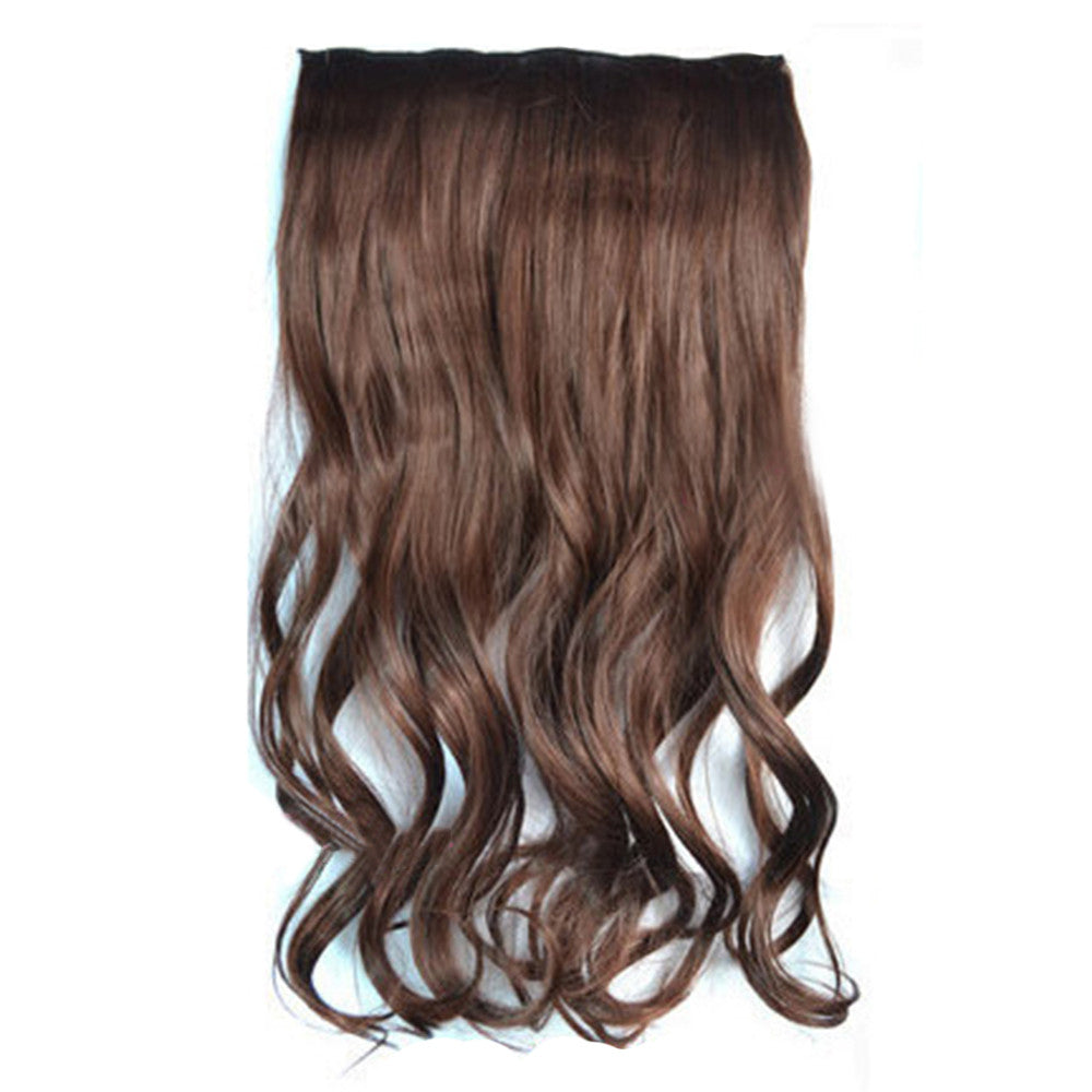 5 Cards Hair Extension Wig Long Curled Hair 5C-33#