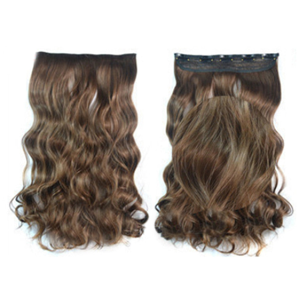 5 Cards Hair Extension Wig Long Curled Hair 5C-8#