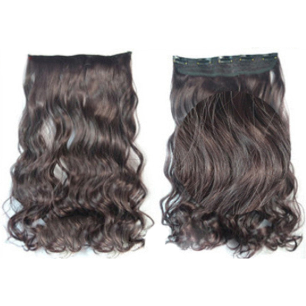 5 Cards Hair Extension Wig Long Curled Hair 5C-99J#