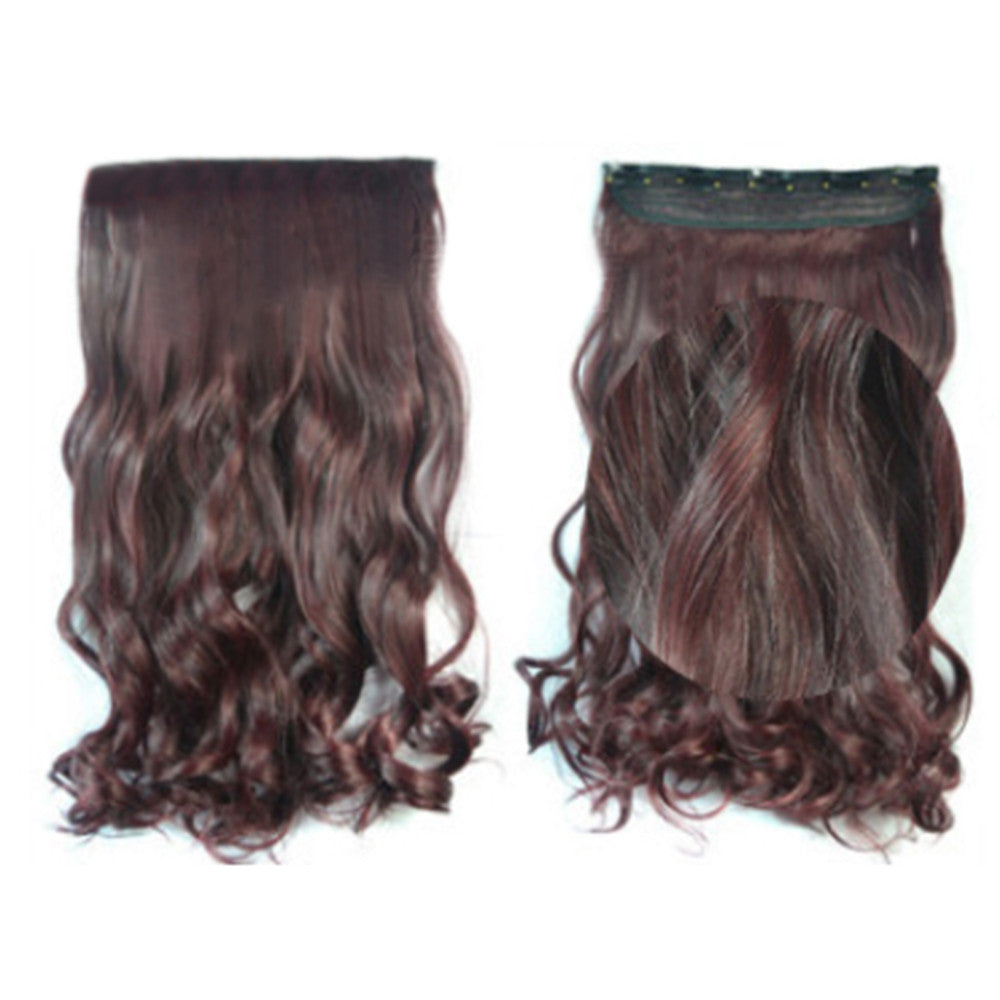 5 Cards Hair Extension Wig Long Curled Hair 5C-99JM118#