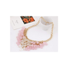 European Fashionable Big Brand Necklace Foreign Trade Water Cube Crystal Necklace   pink - Mega Save Wholesale & Retail - 1