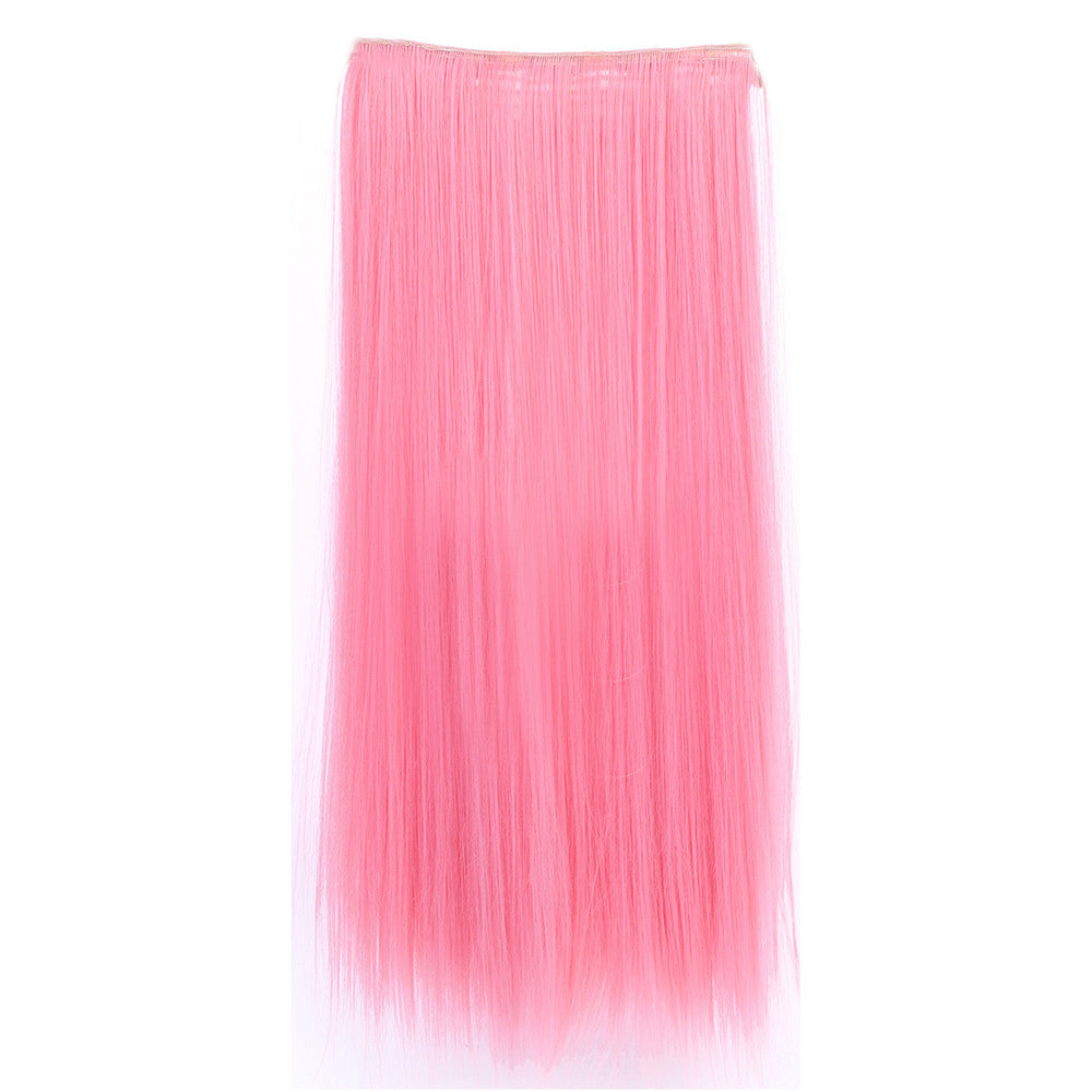 Gradient Ramp Five Cards Hair Extension Wig    pink - Mega Save Wholesale & Retail