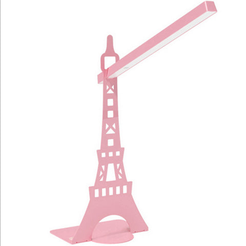 Desk  Rotatable table LED  Lamp USB  charging  touch lamp  Paris tower Pink - Mega Save Wholesale & Retail - 1