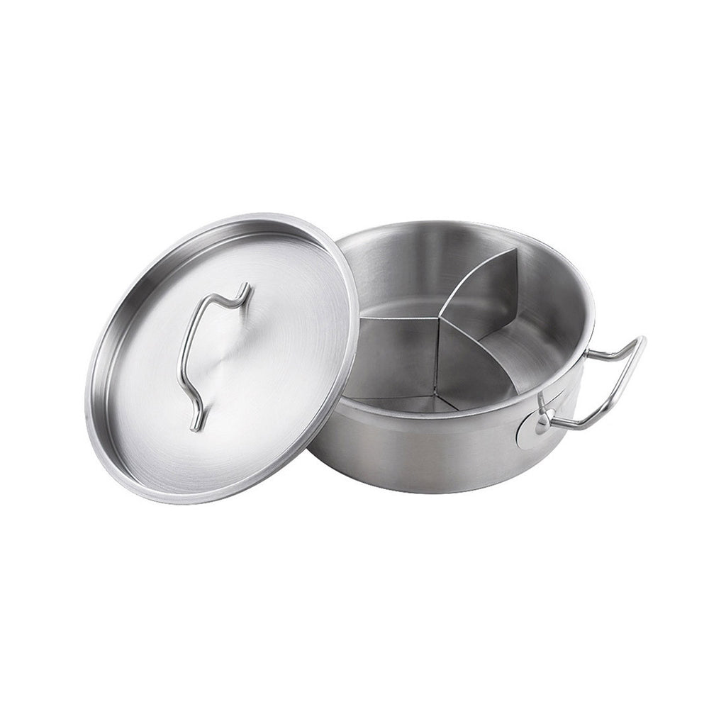 Double bottom binaural three grid composite bottom soup  pot shamisen Tangbao Cooker applicable (paragraph 03)   300*105 - Mega Save Wholesale & Retail - 1