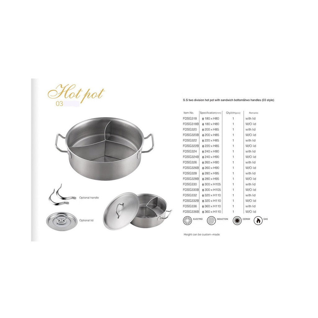Double bottom binaural three grid composite bottom soup  pot shamisen Tangbao Cooker applicable (paragraph 03)   300*105 - Mega Save Wholesale & Retail - 5