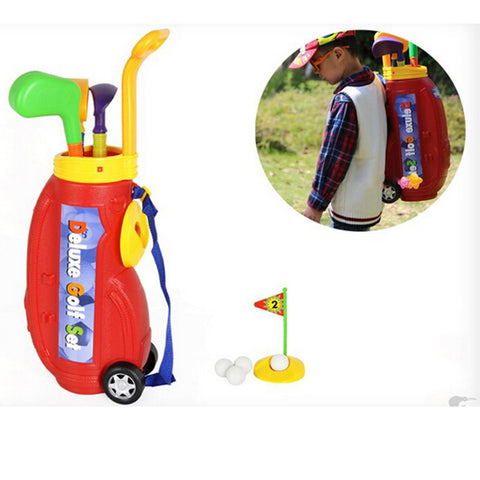 10pcs Children Kids Indoor Plastic Mini Golf Toy Set With Carrying Bag For Ages 3+ - Mega Save Wholesale & Retail