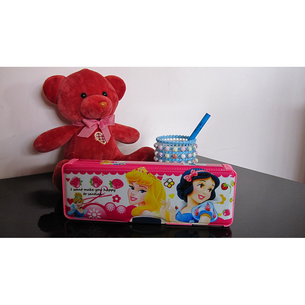 Cute cartoon student supplies Multifunction Two-sided pencil boxes pencil case with electric calculator small size   princess - Mega Save Wholesale & Retail - 2