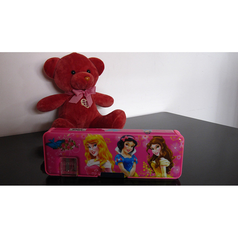 Cute cartoon student supplies Multifunction Two-sided pencil boxes pencil case      Princess Pink - Mega Save Wholesale & Retail - 1