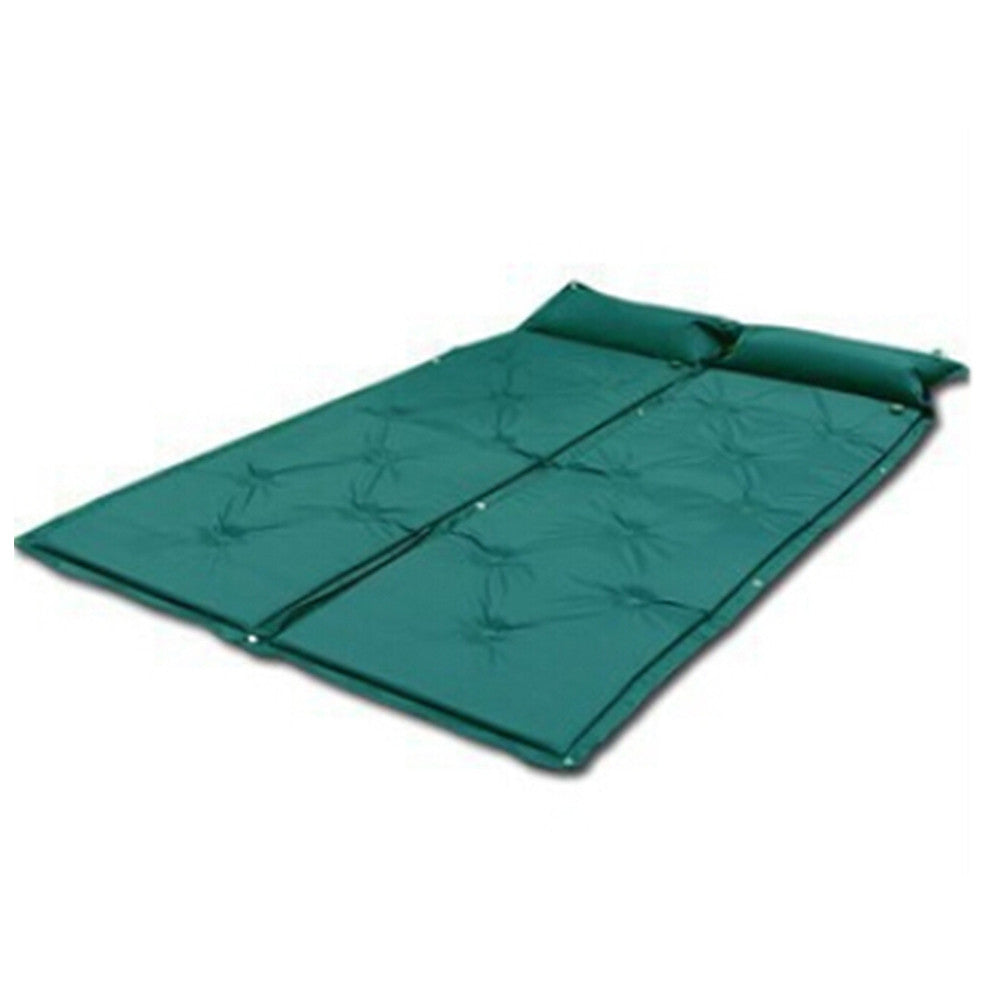 Self Inflating Mattress Camping Hiking Airbed Mat Sleeping with Pillow Blue - Mega Save Wholesale & Retail - 2