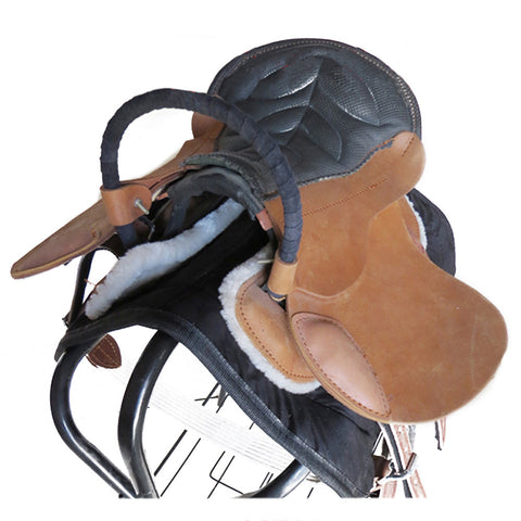 Double Visitor Saddle Small Short Horse Equestrian Supplies - Mega Save Wholesale & Retail