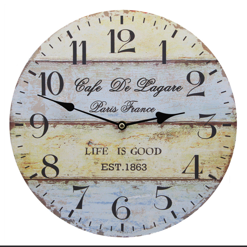 Hang Wall Clock Wooden Sildent Quartz anchor B - Mega Save Wholesale & Retail