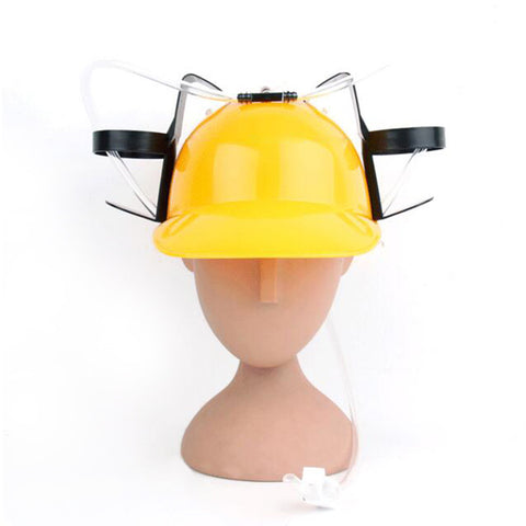 Beer Drinking Helmet (U Pick Color) Hat Game Drink Fun Party Baseball Dispenser  YELLOW - Mega Save Wholesale & Retail