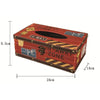 zakka England Vintage PU Leather Tissue Box   ZJH-3red - Mega Save Wholesale & Retail - 2
