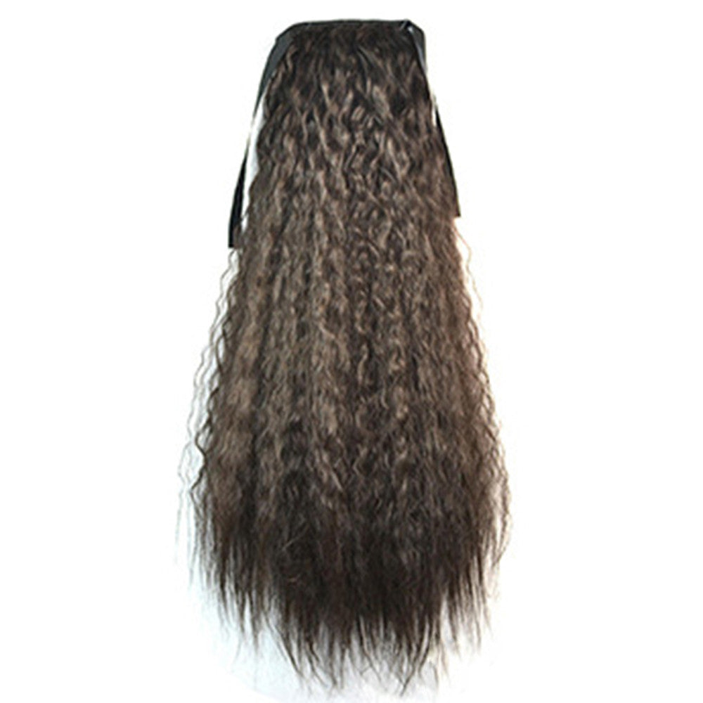 Wig Corn Perm Lace-up Horsetail natural black - Mega Save Wholesale & Retail - 1