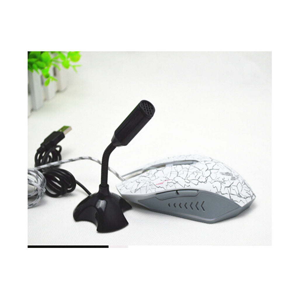 Computer Microphone Small Microphone Household YY Voice Chat Study USB Plug Wired Mini Condenser 3256   black - Mega Save Wholesale & Retail - 7