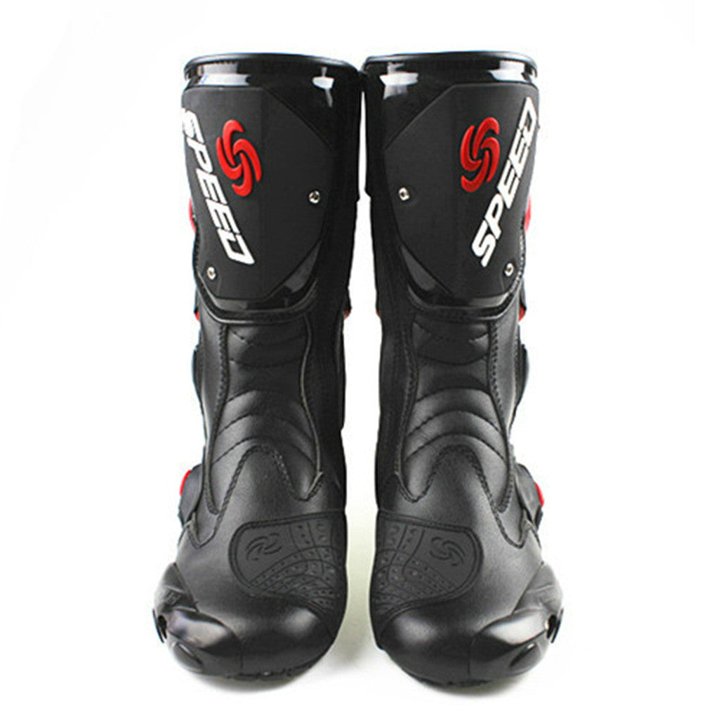 motorcycle shoes motorcycle race thigh boots cross-country boots game shoes cross-country knight boots     black  40 - Mega Save Wholesale & Retail - 1