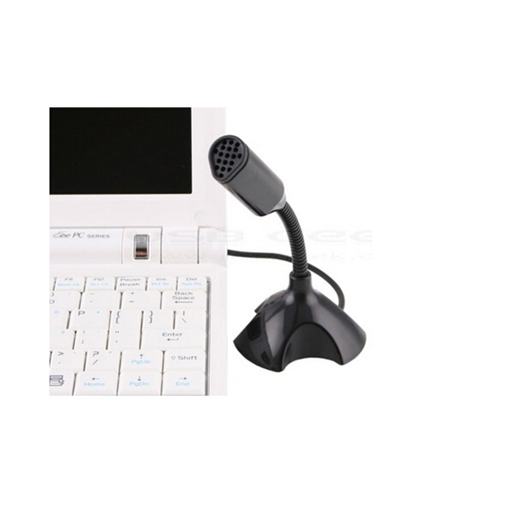 Computer Microphone Small Microphone Household YY Voice Chat Study USB Plug Wired Mini Condenser 3256   black - Mega Save Wholesale & Retail - 3