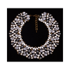 Big Brand Ornament Luxurious Zircon Gemstone Short Necklace Fake Collar Woman Clavicle Necklace   blue - Mega Save Wholesale & Retail - 4