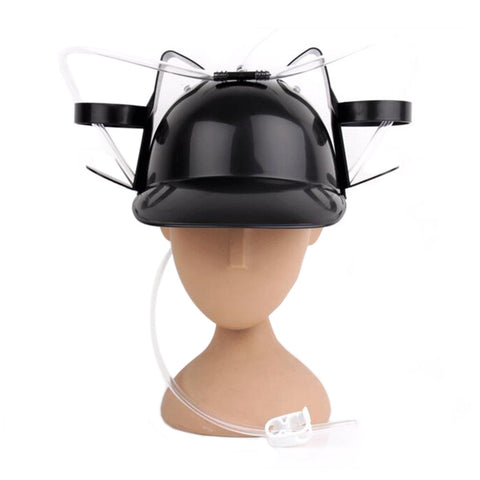 Beer Drinking Helmet (U Pick Color) Hat Game Drink Fun Party Baseball Dispenser  BLACK - Mega Save Wholesale & Retail