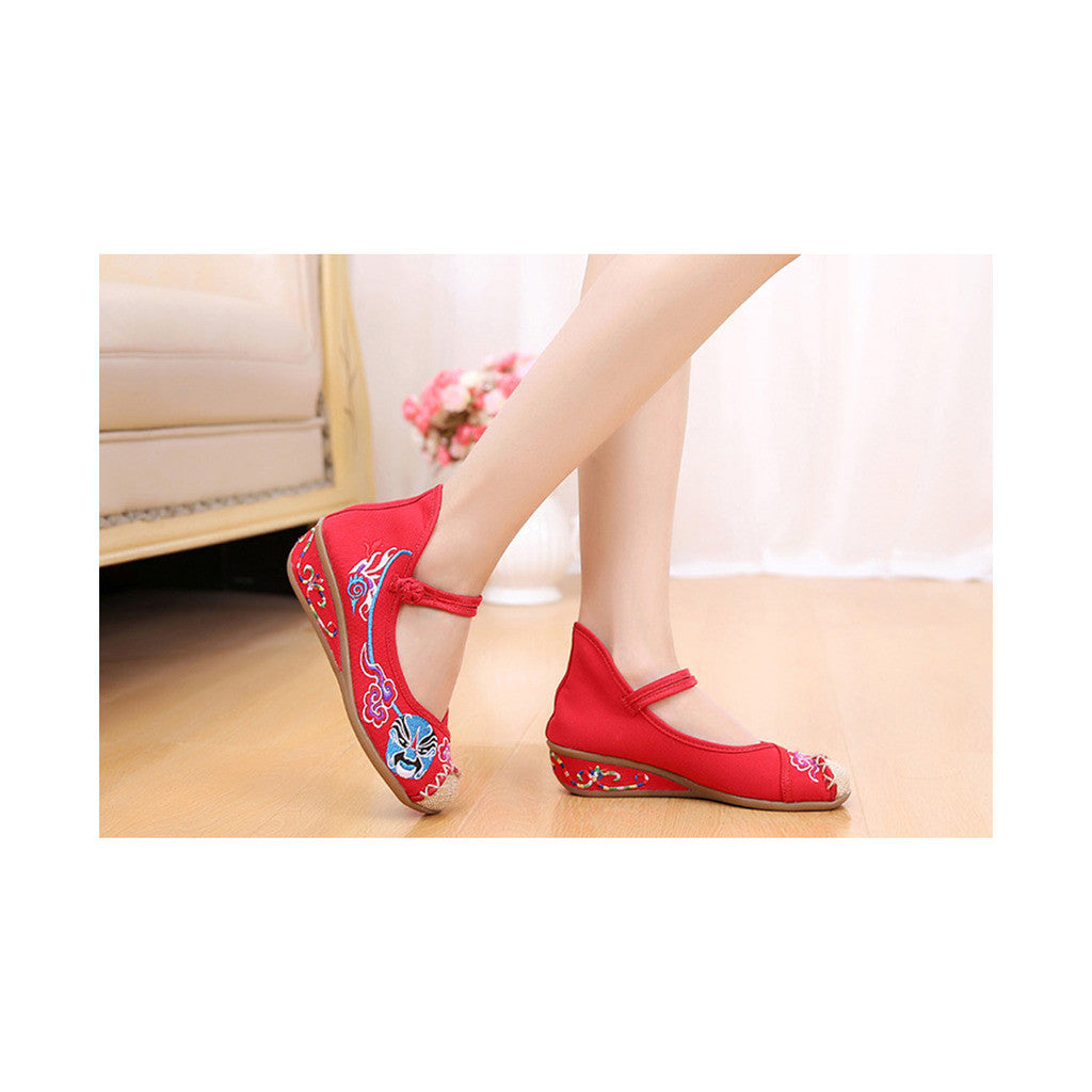 Red Old Beijing Cloth Shoes Online in National Slipsole Low Cut Style & Soft Inner Design - Mega Save Wholesale & Retail - 2