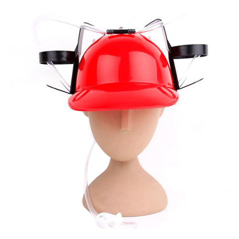 Beer Drinking Helmet (U Pick Color) Hat Game Drink Fun Party Baseball Dispenser  RED - Mega Save Wholesale & Retail
