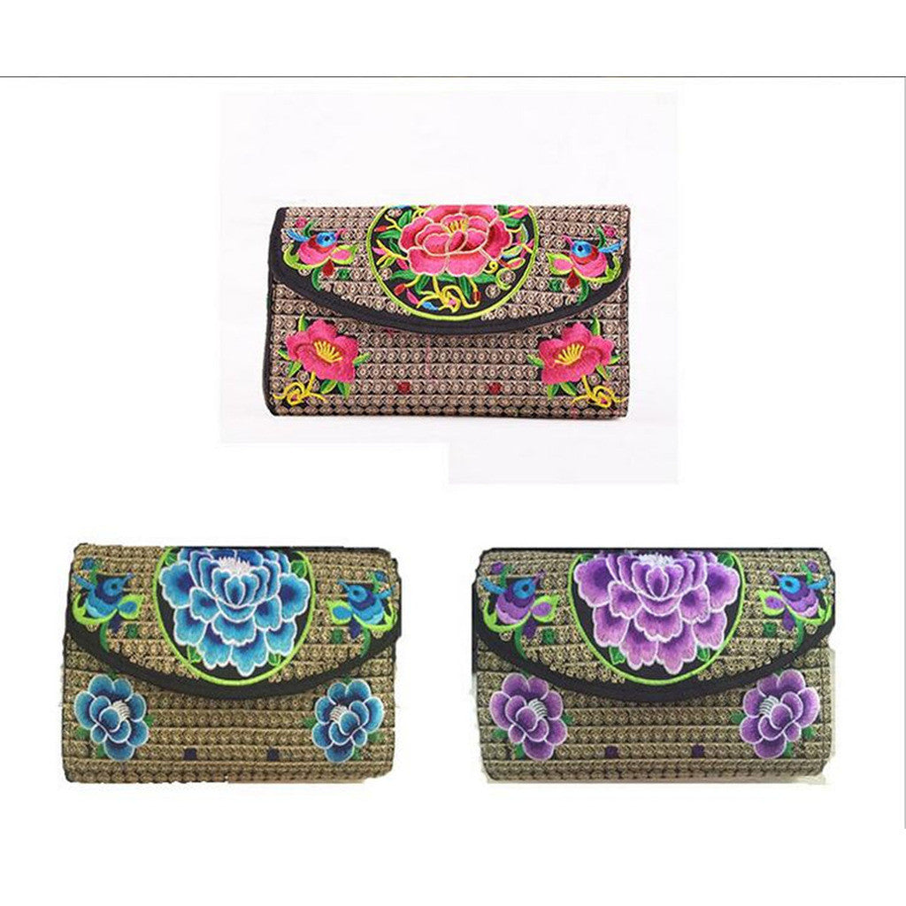 Yunnan National Style Woman's Emboridery Evening Banquet Bag Handbag Chinese Style Banquet Bag    flower - Mega Save Wholesale & Retail - 1