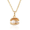 Fake Pearl Shell Necklace 18K Plated Gold - Mega Save Wholesale & Retail