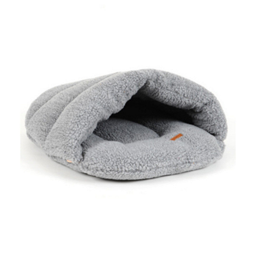 cat's house wram-keeping lamb wool slippers pet's house cat's sleeping bag utensil   brown S - Mega Save Wholesale & Retail - 2