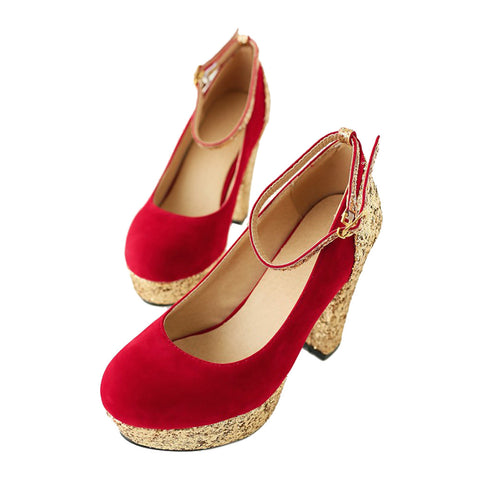 Bridesmaid Wedding Women Shoes  red - Mega Save Wholesale & Retail - 1