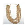 New European Big Brand Fashionable Zircon Necklace Woman    golden - Mega Save Wholesale & Retail