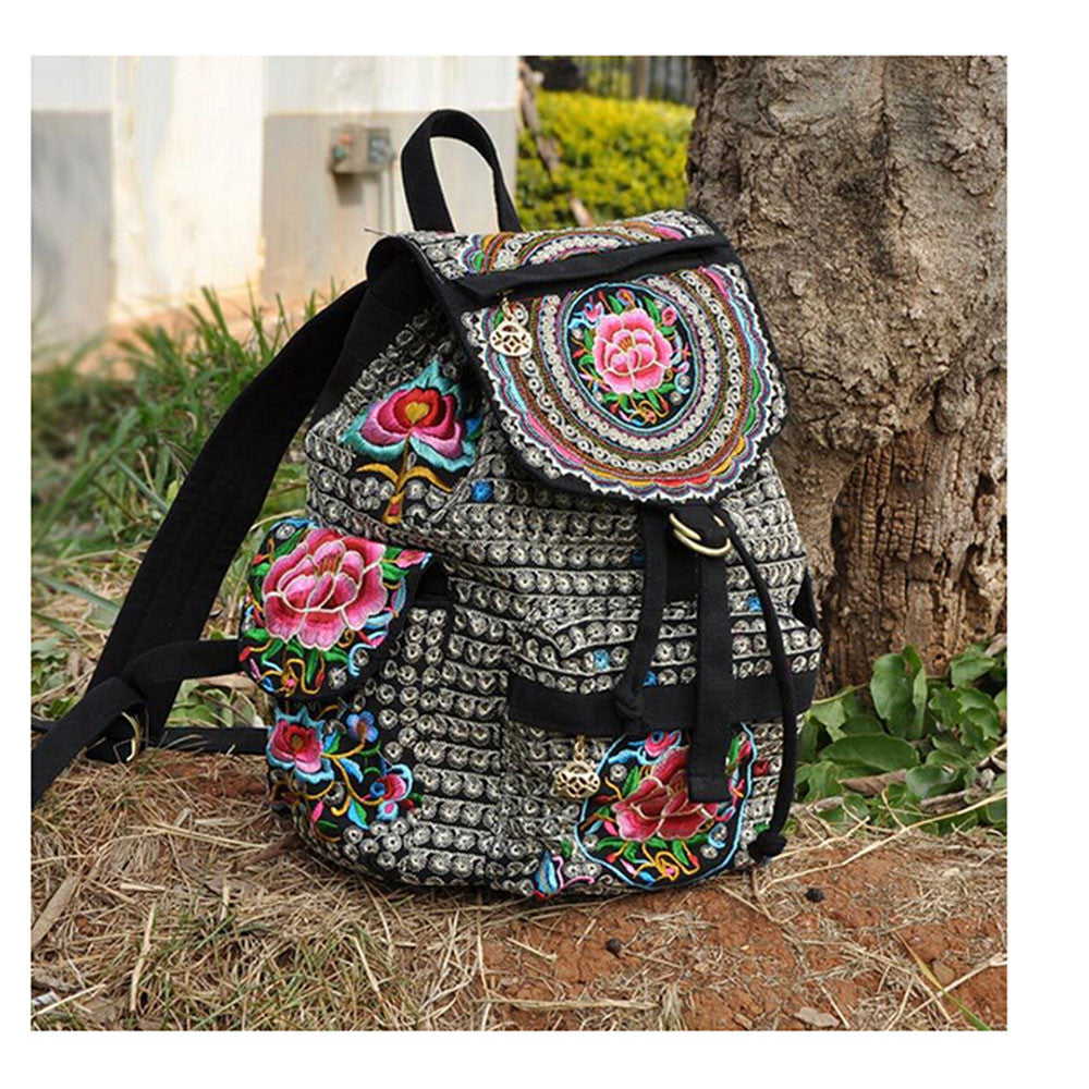 Spring Festival's Gift Yunnan Fashionable National Style Embroidery Bag Stylish Featured Shoulders Bag 93048   silver and white zamioculcas zamiifolia - Mega Save Wholesale & Retail - 1