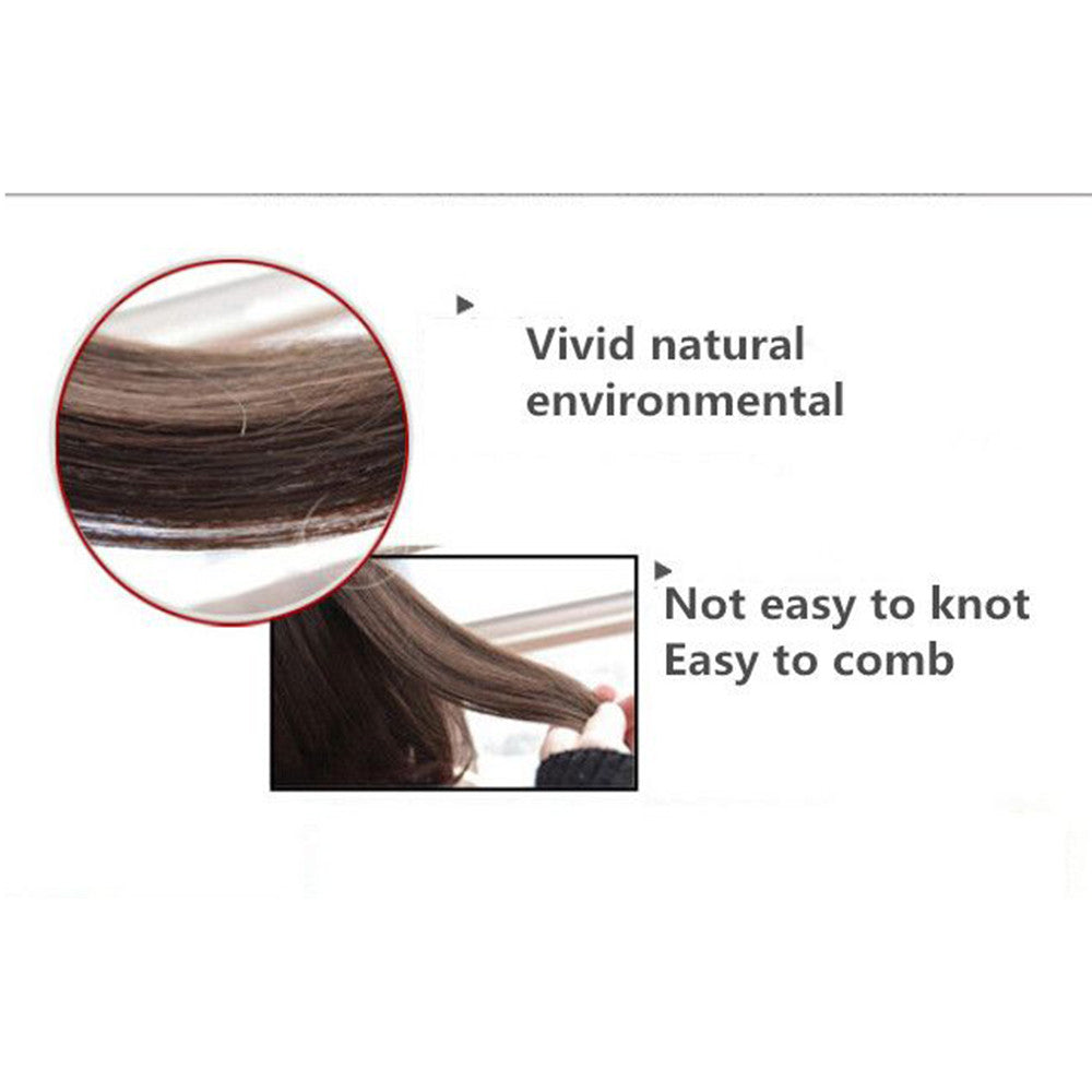 The new wig manufacturers wholesale hair extension fishing line hair extension piece piece long curly hair wig piece foreign trade explosion models in Europe and America  118C - Mega Save Wholesale & Retail - 5