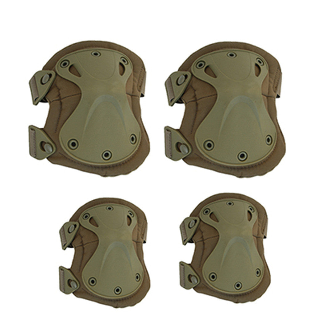 the protector tactical protector set camouflage kneelet elbow pad    black - Mega Save Wholesale & Retail - 2