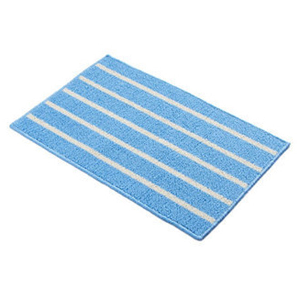Simple Stripe Long Ground Floor Door Mat Carpet 43x65cm blue - Mega Save Wholesale & Retail - 1