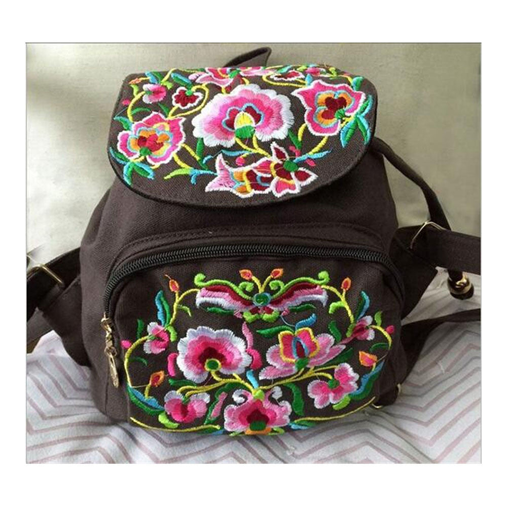 New Yunnan Fashionable Embroidery Bag Stylish Featured Shoulders Bag Fashionable Woman's Bag Bulk 93012   coffee - Mega Save Wholesale & Retail - 1