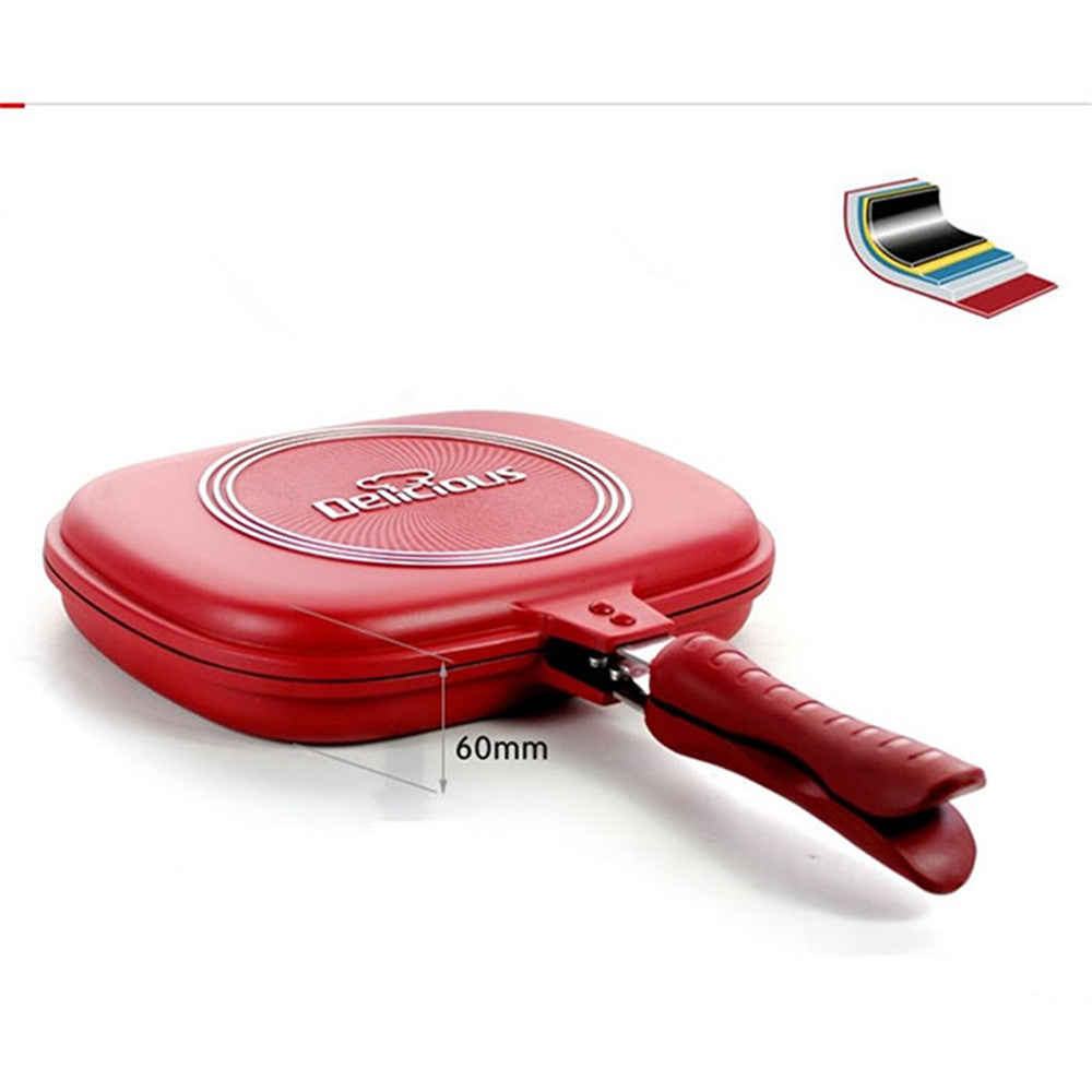 Li Shi-sided frying pans have a pressure cooker 30cm non-stick pancake pan Smokeless Gas special - Mega Save Wholesale & Retail - 1