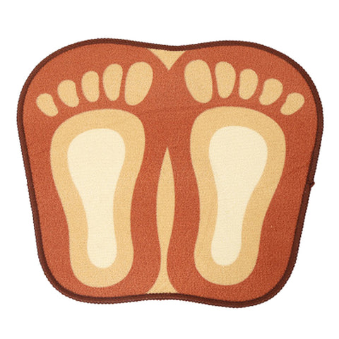 Cartoon Foot Shape Ground Floor Foot Mat Antiskid coffee - Mega Save Wholesale & Retail - 1