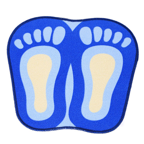 Cartoon Foot Shape Ground Floor Foot Mat Antiskid blue - Mega Save Wholesale & Retail - 1