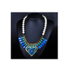 European Exaggerated Necklace Zircon Pearl Square National Style Necklace   blue - Mega Save Wholesale & Retail - 1