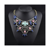 New European Big Brand Vintage Necklace Fashionable Hollow Zircon Fake Collar Short Necklace     yellow - Mega Save Wholesale & Retail - 2