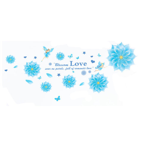 Crystal Blue Wallpaper Wall Sticker Removeable - Mega Save Wholesale & Retail - 1