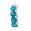 Arc Zircon Navel Ring Buckle    platinum plated blue zircon - Mega Save Wholesale & Retail