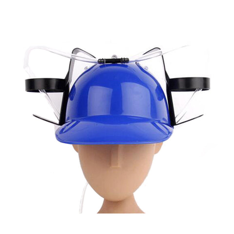 Beer Drinking Helmet (U Pick Color) Hat Game Drink Fun Party Baseball Dispenser  BLUE - Mega Save Wholesale & Retail