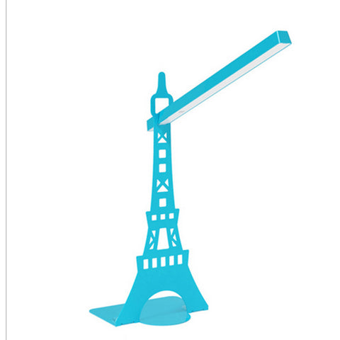 Desk  Rotatable table LED  Lamp USB  charging  touch lamp  Paris tower Blue - Mega Save Wholesale & Retail - 1