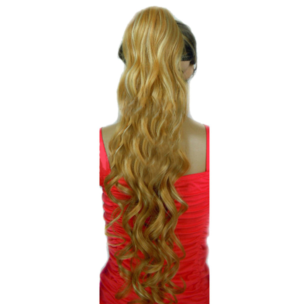 Long Curled Hair Wave Curl Elastic Button Horsetail    27H613 - Mega Save Wholesale & Retail